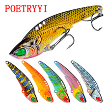 1pc Spoon Fishing Lure Mixed Size Metal Sequin Paillette Carp Spinners Bass Baits Artificial Wobbler with Treble Hook 30