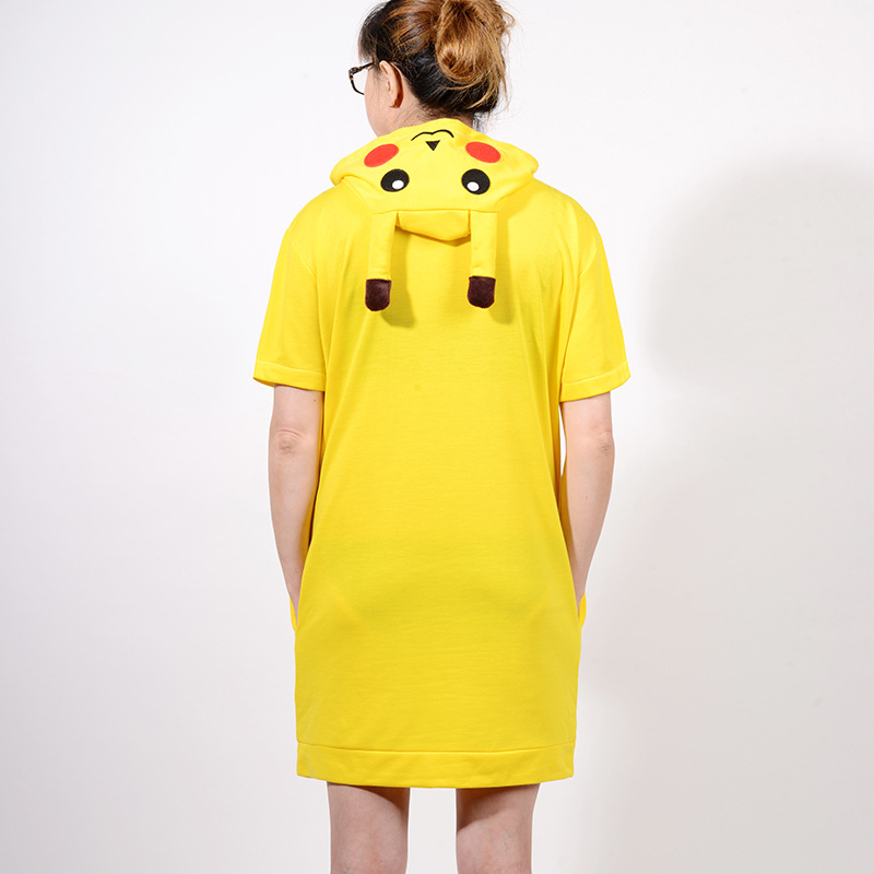 Women s Pikachu Sleepshirts Short Sleeve Ladies Nightgowns Cotton Dressing  Gown For Women Summer Dress Nightwear Unicorn Pijama-in Nightgowns    Sleepshirts ... 18cbd988a