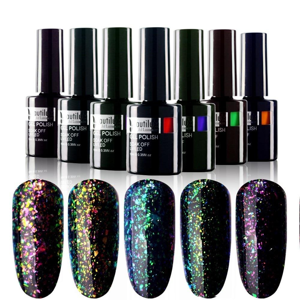 1pc Beautilux Gamintojas Galaxy Chameleon Dribsniai Color Gel Nail - Nagų menas