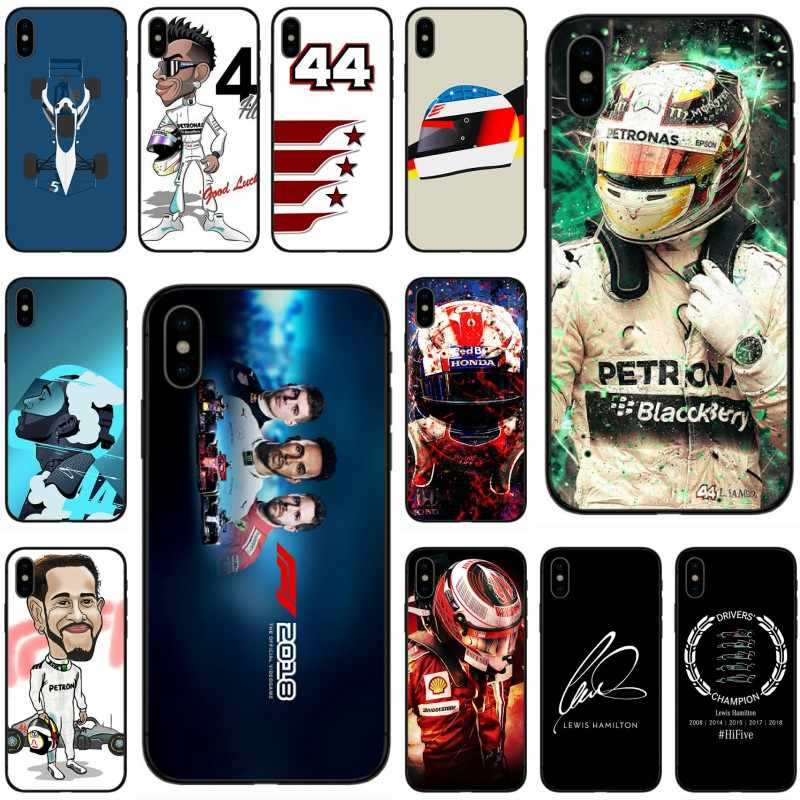 Cool racing racer Lewis Hamilton 44 Cover Soft Silicone black Phone Case For iPhone X XR XS MAX 5 5C 5S SE 6 6S Plus 7 8 Plus
