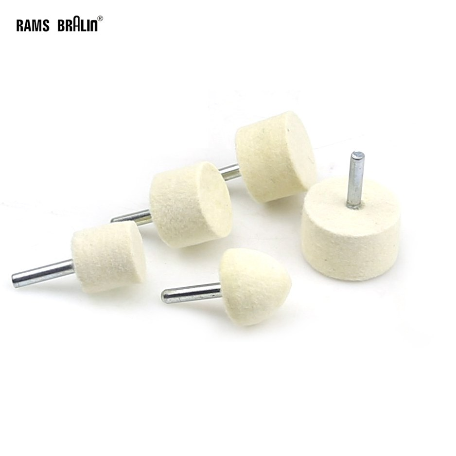 1 Piece Dia. 25 - 40mm Drill Felt Polishing Wheel For Metal Polish