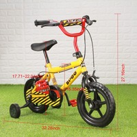 12 yellow Kid's Bike Cycling Child Bicycle for Age 20 Month To 4 Years Old kids cycling bike student bicycle for Boys and girls