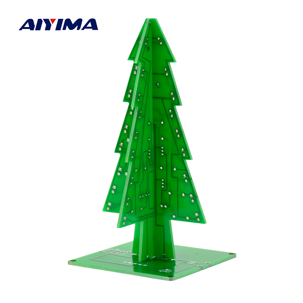 Colorful Christmas Tree LED 3D DIY Flash Circuit Parts Electronic ...