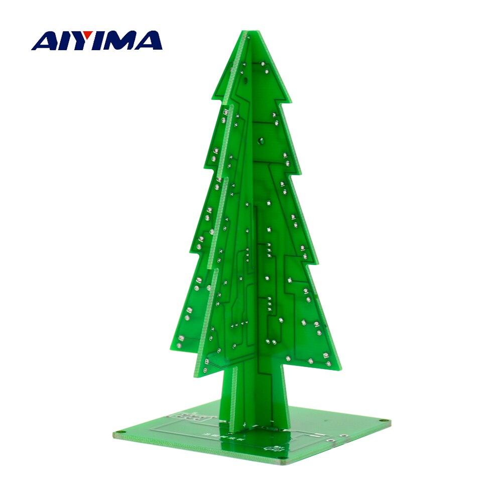 7 Color 3D Christmas Tree LED Flash DIY Kit Three Dimensional ...