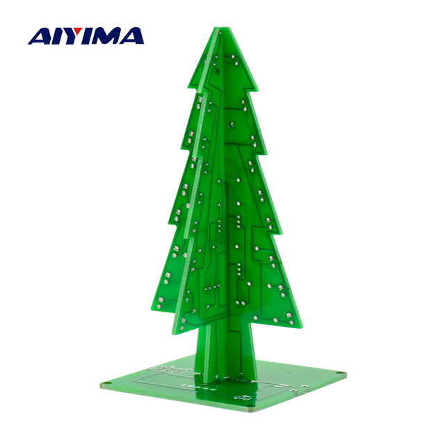 Dimensiones de color Navidad árbol DIY kits agua luces LED flash ...
