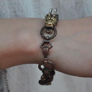 wedding decoration Chinese bronze Dragon Loong statue Bracelet bangle wristlet circlet wristband