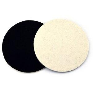 Image 5 - POLIWELL 2PCS 1/2/3/5/6/7 Inch Massaal Wolvilt Polijstschijf slijpen Schuren Disc High density Klittenband Polijsten Pads