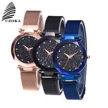 CZOKA Quartz Womens Watches Watch Women Stainless Steel Bracelet High Quality Casual Wrist For Woman