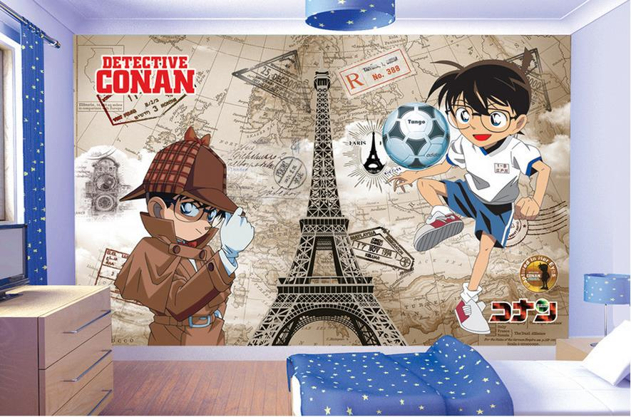 3d Murals Wallpaper Detective Conan Photo Custom Non Woven