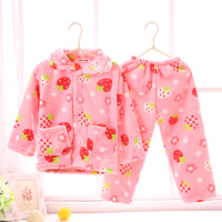 Hot Children Flannel Pajama Set Warm Coral Fleece Nighties Homewear Sleepwear Pajamas Pyjama Lounge Cartoon Soft