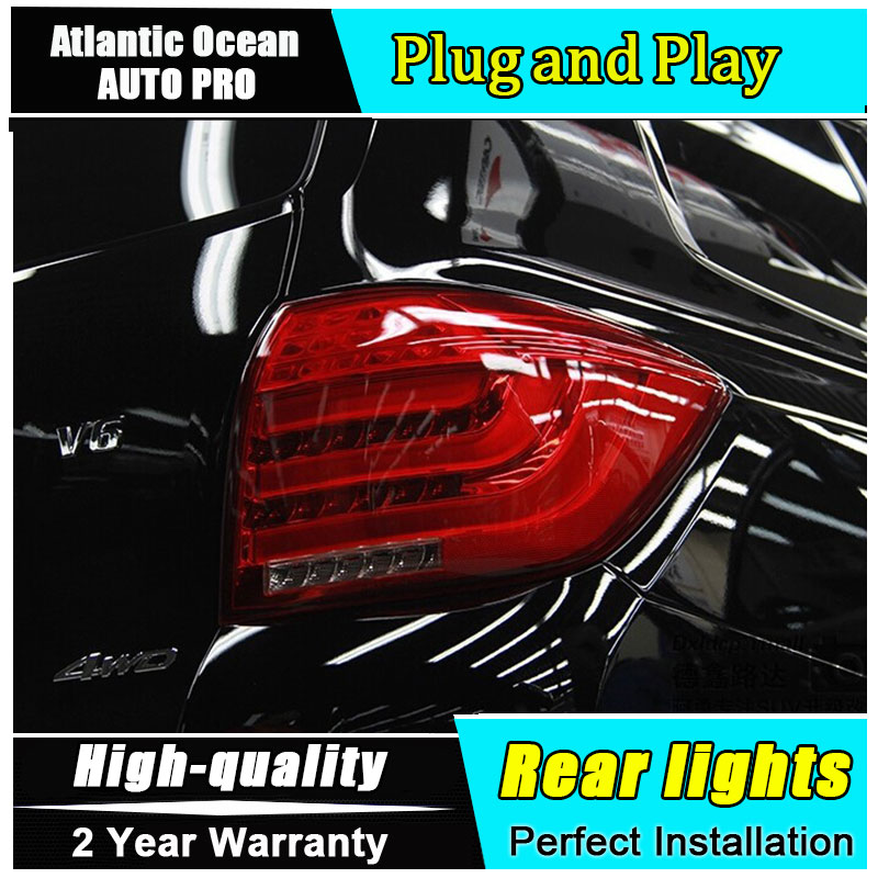 JGRT For Toyota Highlander LED taillights Toyota Highlander rear lights 2012-2014 led rear trunk Fog lamp+signal car styling jgrt car styling for vw tiguan taillights 2010 2012 tiguan led tail lamp rear lamp led fog light for 1pair 4pcs