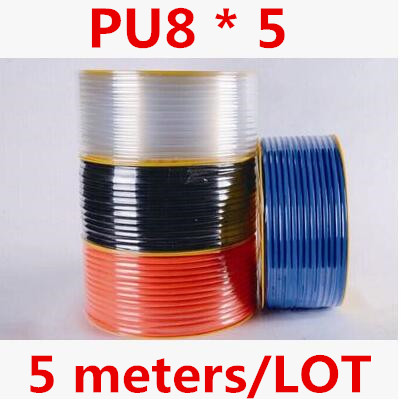 5m Pneumatic Hose PU Tube OD 8MM ID 5MM Plastic Flexible Pipe PU8*5 Polyurethane pipe beibehang classic feature solid wall paper plain stripe non woven home decor papel de parede 3d wallpaper roll for bedroom white