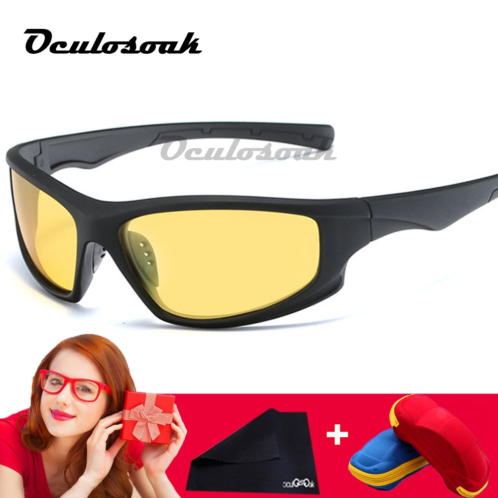 New Polarized SunglasseS Men UV400 Anti glare Sun Glasses Black PC Frame Outdoor Sport Goggles De Sol Gafas with box in Men 39 s Sunglasses from Apparel Accessories