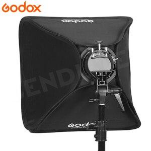 Image 5 - Godox 80*80 センチメートルソフトボックス折りたたみ 80 × 80 フラッシュ折りたたみ + s型ブラケットbowensホルダー + バッグ用フォトスタジオフラッシュストロボ
