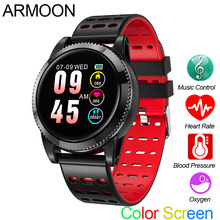 Smart Watch M11 Heart Rate Fitness Bracelet Blood Pressure Activity Tracker Android IOS Color Call Message Sport Round Band цена и фото