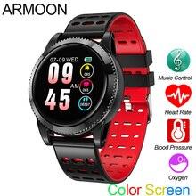 Купить с кэшбэком Smart Watch M11 Heart Rate Fitness Bracelet Sleep Monitor Fitness Tracker Android IOS Band Color Screen Multi Sports Round Watch
