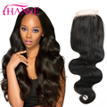 Brazilian Virgin Hair 4x4 Top Front Closure Brazilian Body Wave Closure 7A Grace Queen Hair Free/Middle/Three Part Lace Closure