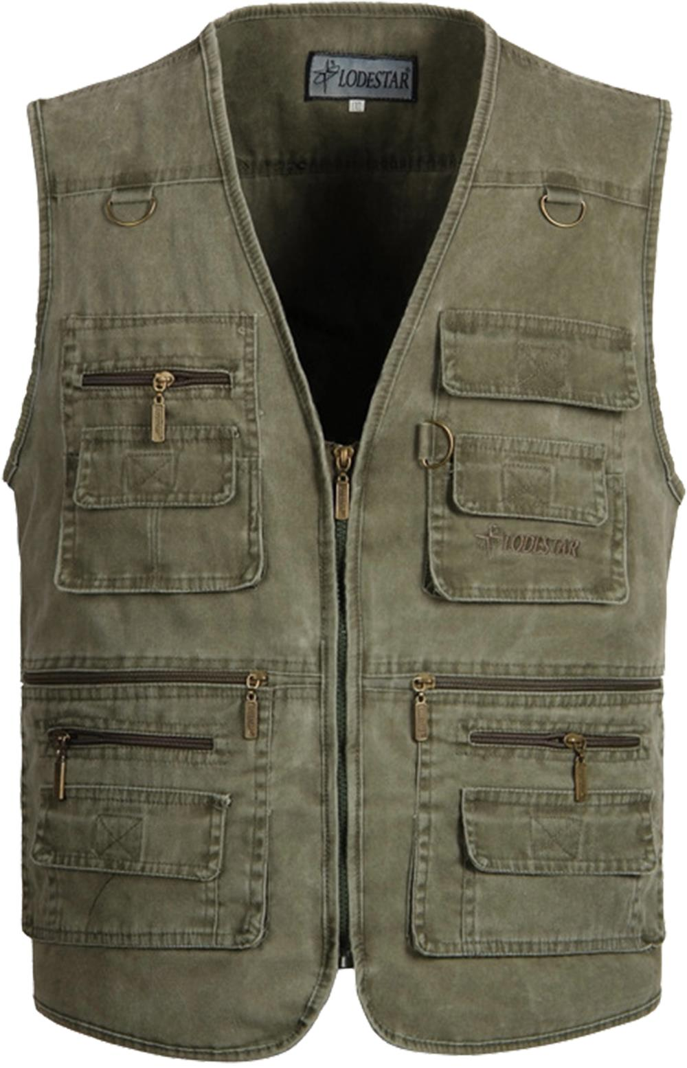 Mens Multi pocket Travel Safari Vest Outdoor Plus Size