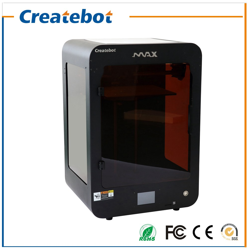 2017 New Upgraded 3D Printer Black Touchscreen Createbot MAX 3D Printer High Quality Precision with 1 Latest  Filament for Free createbot black full metal fdm 3d modeling printer