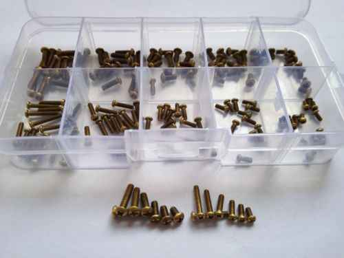 160pcs M2/M2.5 Philips Round Head Copper Screw Brass Bolt Screws Assortment Set Free Shipping