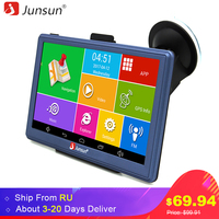 Junsun 7 HD Car GPS Navigation FM Bluetooth AVIN Map Free Upgrade Navitel Europe Sat Nav