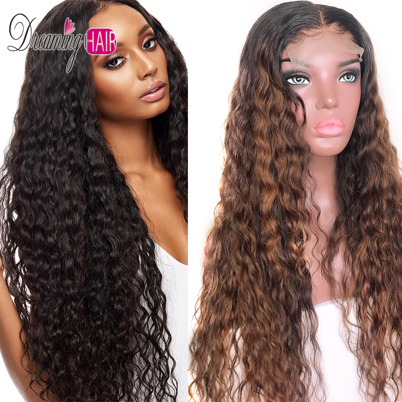 150% Density 13x6 Curly Red Human Hair Wigs Brazilian Remy Hair Lace Front Human Hair Wigs With Baby Hair Ombre Human Hair Wigs