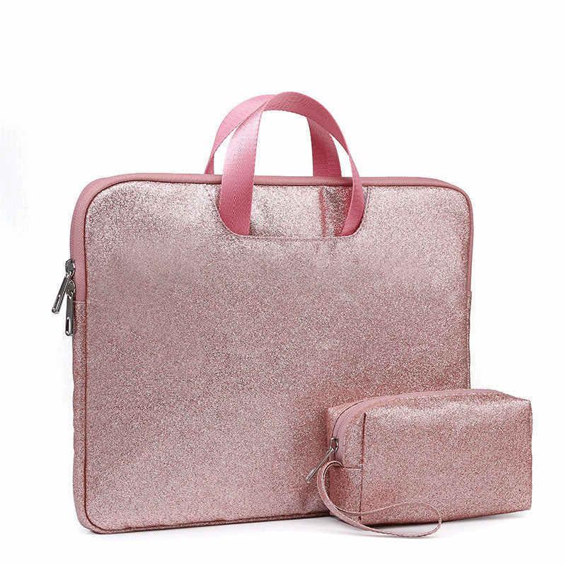 Модная блестящая Портативная сумка для ноутбука 13,3 15,4 дюймов чехол для ноутбука Macbook Air Pro 11 12 13 15 retina hp ASUS сумочка