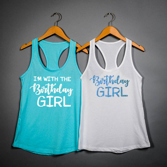 74a62ba6 personalized birthday girl womens Tank tops tees bridal shower t Shirts  party favors GIFTS photo prop