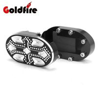 Crossing Motorcycle CNC Billet Aluminum Foot Rests Brake Pedal Pad Cover For Harley Sportster XL 883