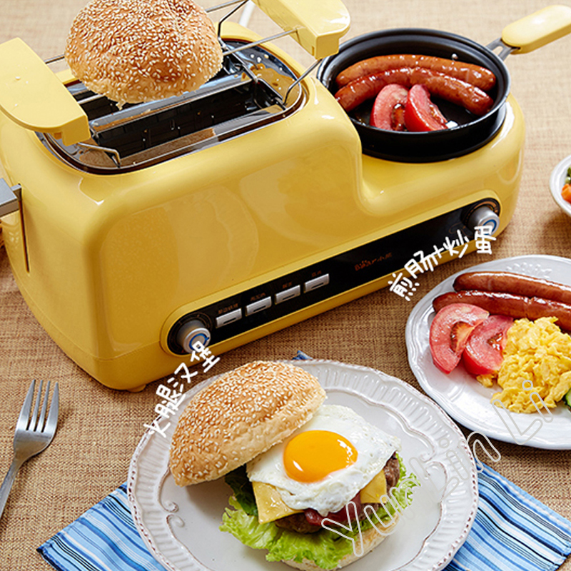 Home Breakfast Machine Sandwich Machine Muiti-Functional Toaster Bread Baking Machine Egg Cooker Bacon Frying Machine DSL-A02Z1 dmwd mini household bread maker electrical toaster cake cooker 2 slices pieces automatic breakfast toasting baking machine eu us