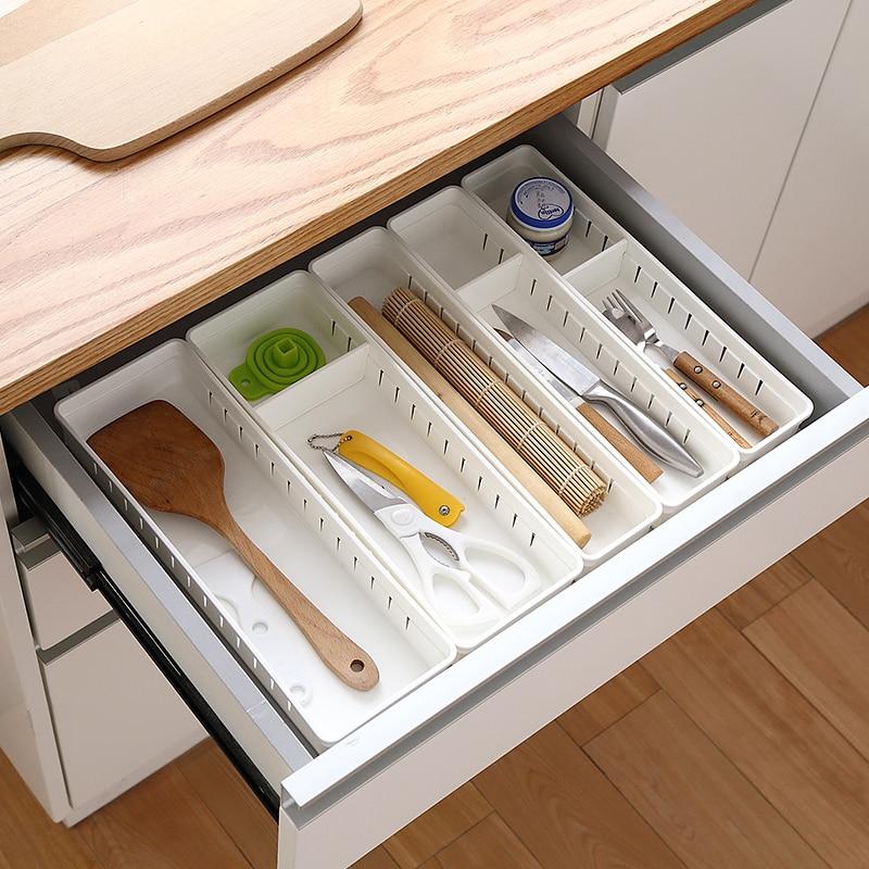Adjustable New Drawer Organizer Home Kitchen Board Divider Makeup Storage Box Pencil Jewelry Organizer Underwear Socks Spices