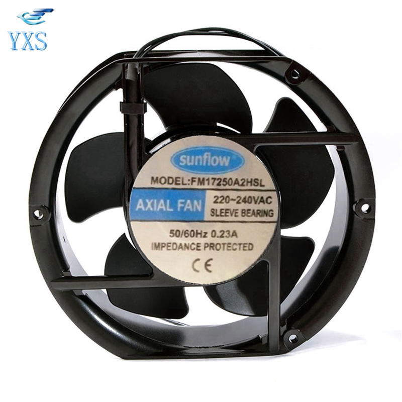 все цены на FM17250A2HSL AC 220V-240V 0.23A 50/60HZ 2 Wires 17251 17cm 172*150*51mm Cooling Fan онлайн