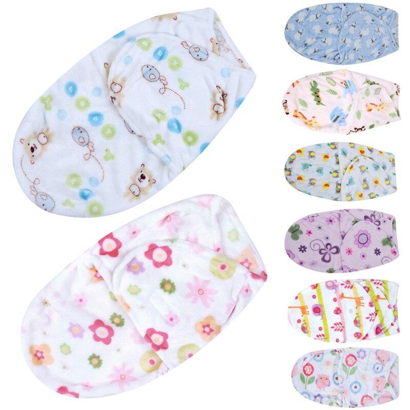Baby Blanket Swaddle Wrap 2018 Spring Soft Coral Velvet Baby Blankets Envelope for Newborns Kids Child Sleeping Bag