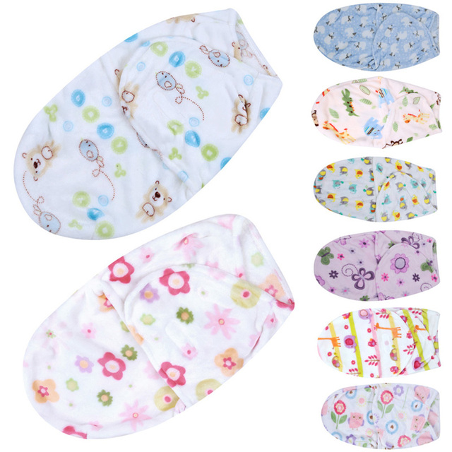 Baby Blanket Swaddle Wrap Winter Soft Coral Velvet Babies Blankets Envelope for Newborns Kids Baby Bedding Set Linens