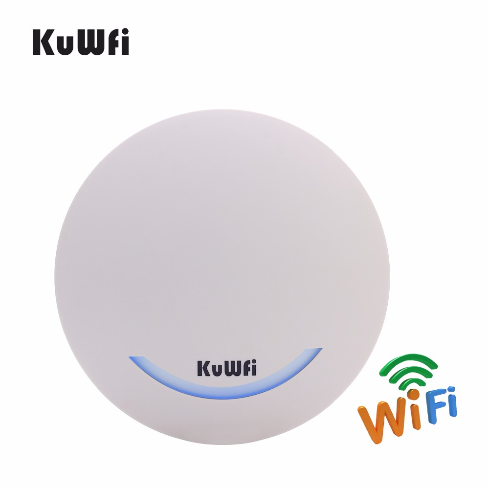 KuWFi 600Mbps Wireless Ceiling AP Router Dual Band Access Point AP Wifi Signal Amplifier WIFI Extender With 48V POE Adapter wavlink newest a pair powerline av1200 extender power line ethernet adapter dual band wired access point with gigabit port mimo page 1