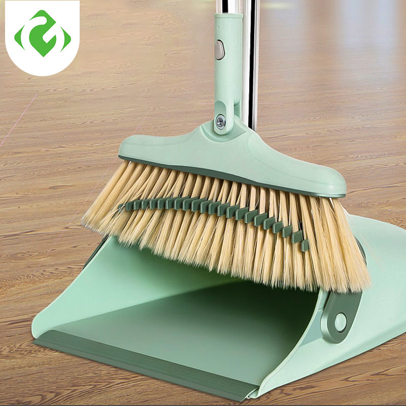GUANYAO Home Broom and Dustpan floor cleaner tools Plastic Windproof Household Dustpan Creative foldable storage Soft