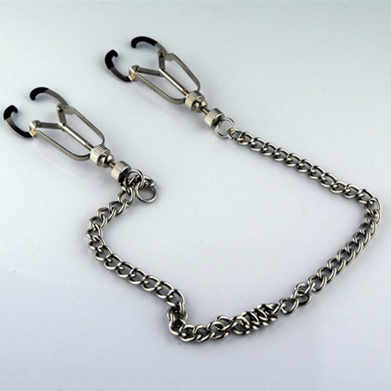 Bondage Slave Metal Nipples Clamps Krūšu klipi Papilla stimulēšana Sekss Produkti Pieaugušo rotaļlietas sievietēm Vīrieši Gay Exotic Accessories