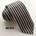 New Arrival 5cm Narrow Ties Vertical Stripes High Fashion Poly Neckties for Men