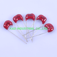 10pcs Silver MICA Capacitor 820pF 500V Radial for Guitar AMP Parts