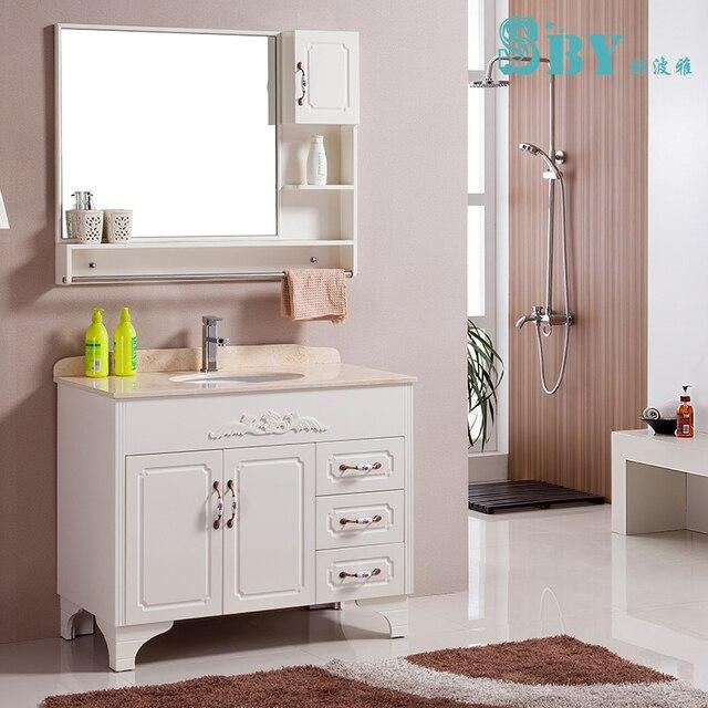 European Style Bathroom Cabinet Combination Of Solid Oak Floor Bathroom Cabinet Marble Washbasin