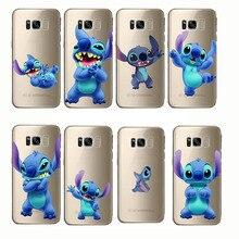 Stitch Funny Cute Cartoon Capa Silicone Clear Coque Funda Cover Phone Case for Samsung Galaxy S6 S7 S8 S9 edge plus C7 C8 C9