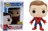 Exclusive Funko pop Official Marvel: Spider Man Homecoming SpiderMan New Suit Unmasked Vinyl Action Figure Collectible Model Toy