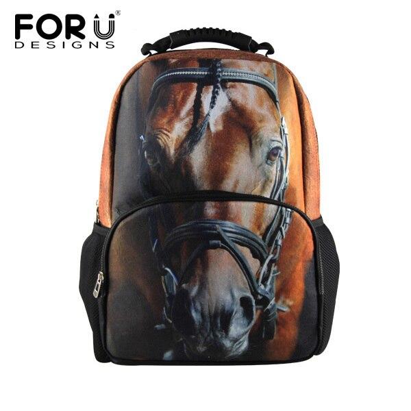 3D Animal Unique Backpack Crazy Horse, Dinosaur, Tiger, Dog etc Great School Bag