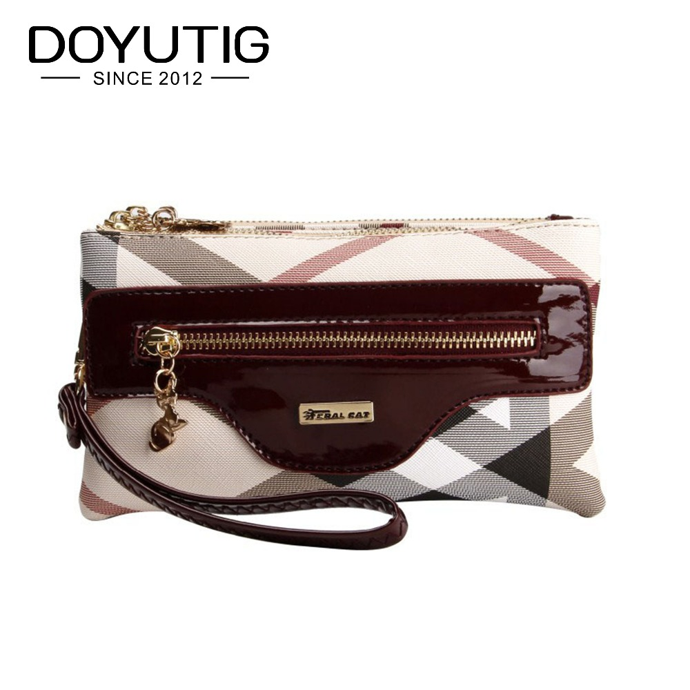 Envelope Evening Clutch Bags Red Striped Pattern PVC Leather Women Shoulder Bags Crossbody Purses & Handbags Lady Wallet F444
