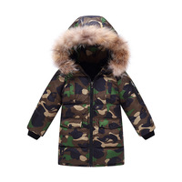 Boys Down Parka Jackets Winter Jacket For Boy Children Windbeaker Parka Coat Russian For Boy Hooded Camouflage Jacket
