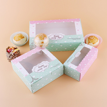 100 pcs gift paper box with window wedding party heart tower kraft Paper cake food packaging sweety candy cookies supplier