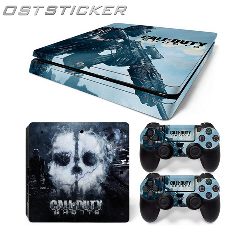 OSTSTICKER Hot Selling Design Skin Stickers For Sony PS4 Slim Console + 2pcs Game Controller Decal Protector Cover