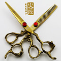 6 inch kasho professional  hair scissors cutting and thinning scissors hairdressing barber shears tool Salon golden dragon