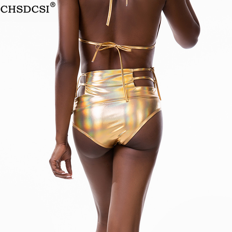 CHSDCSI Sexywear Party MINI Shorts Hot Nightwear Bandage Short Pants Women Dance Plus Size Clubwear Silver Polyester Gold Bottom