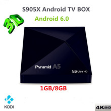Android6 0 font b TV b font BOX 1GB 8GB WiFi Media Player IPTV Smart Box